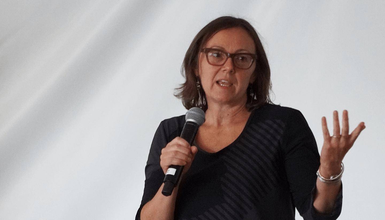 Paola Arlotta speaking.