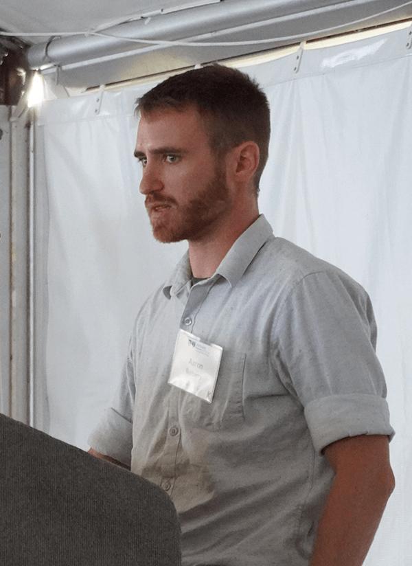 Aaron Burberry speaking.